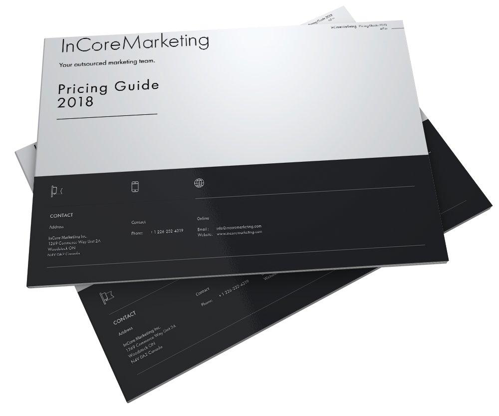 Pricing Guide - InCore Marketing Inc.